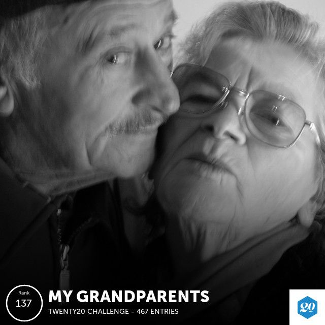 My photo finished 137 out of 469 in the My Grandparents challenge!