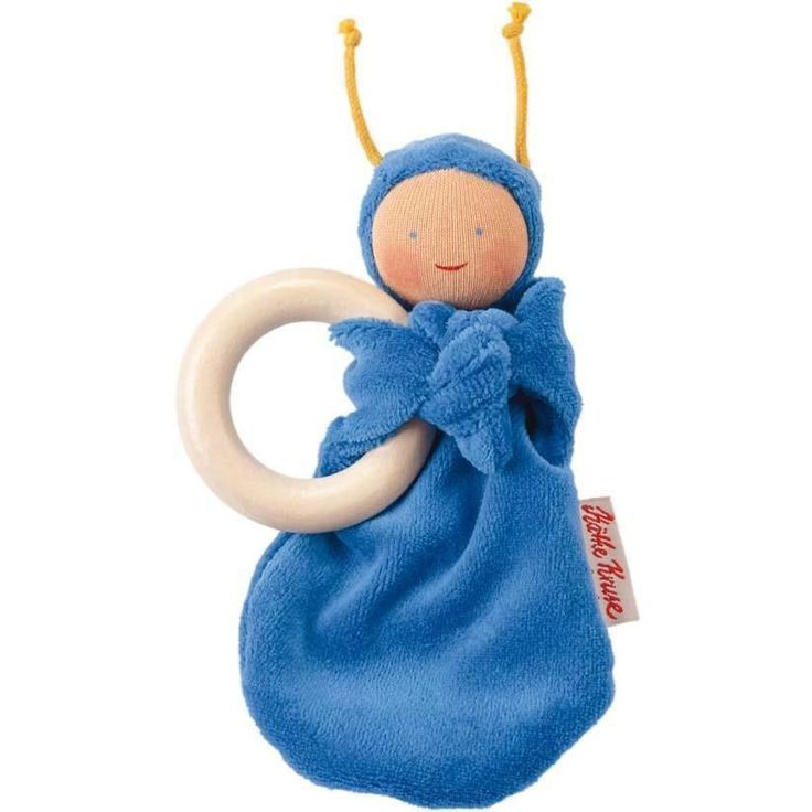 Rainbow Baby Teething Doll, Blue from Oompa Toys | Natural ...