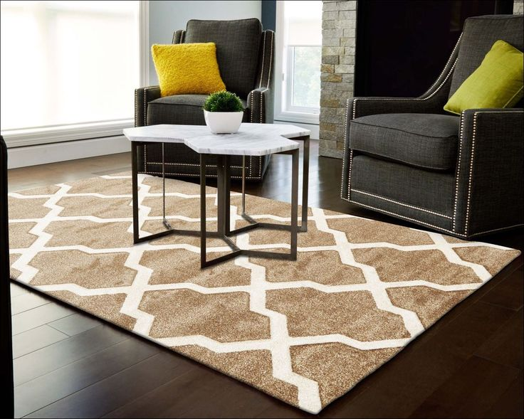 Trellis patterned rugs are super stylish for living areas. This one is one of our fav's: Cross Hatch Trellis Modern Rug Beige
