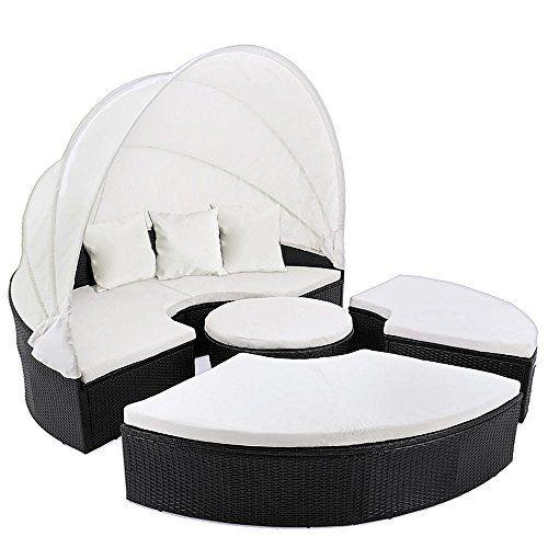 SSITG Sun Island Rattan Lounge Garden Furniture Sun Lounger Garden Recliner Chair