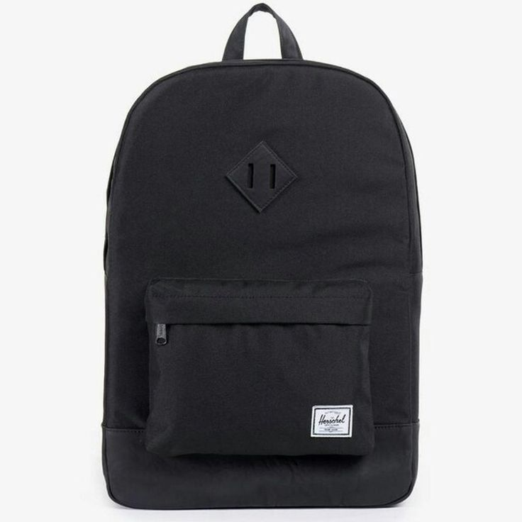 For sale (no swaps) here we have a NEW (without tags) Herschel Supply Co. Heritage bag backpack rucksack in all black with matching black pu leather base. Size 21.5 litres. RRP £60.00 selling for £38.00 apc carhartt norse projects penfield uniqlo ymc #herschel #bag #backpack #rucksack #streetwear