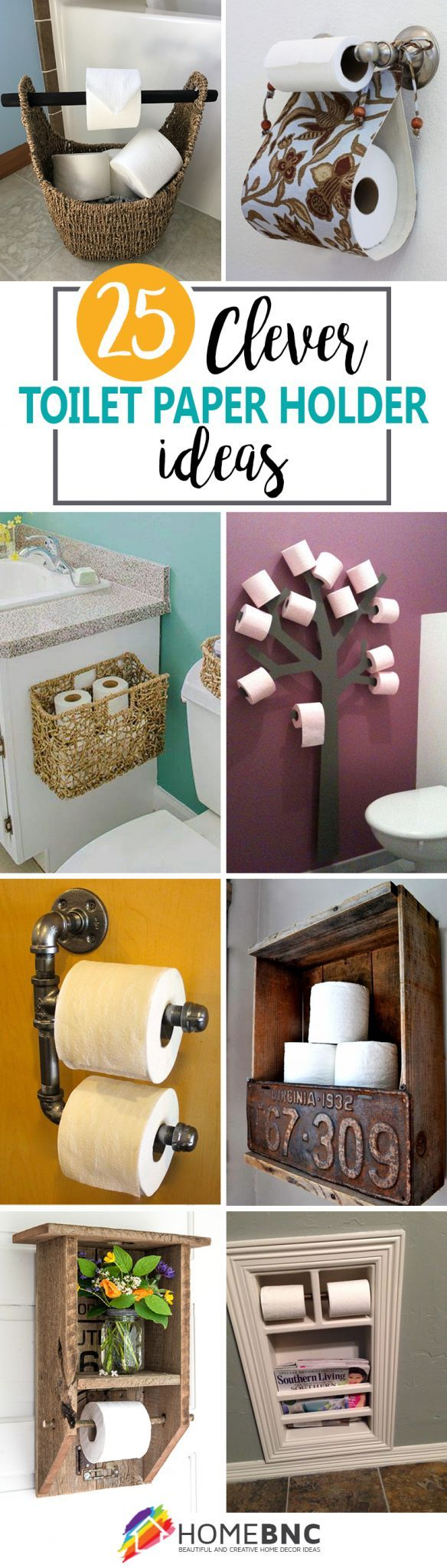 Toilet Paper Holder Designs- Great collection from DIY to buy & everything in between!