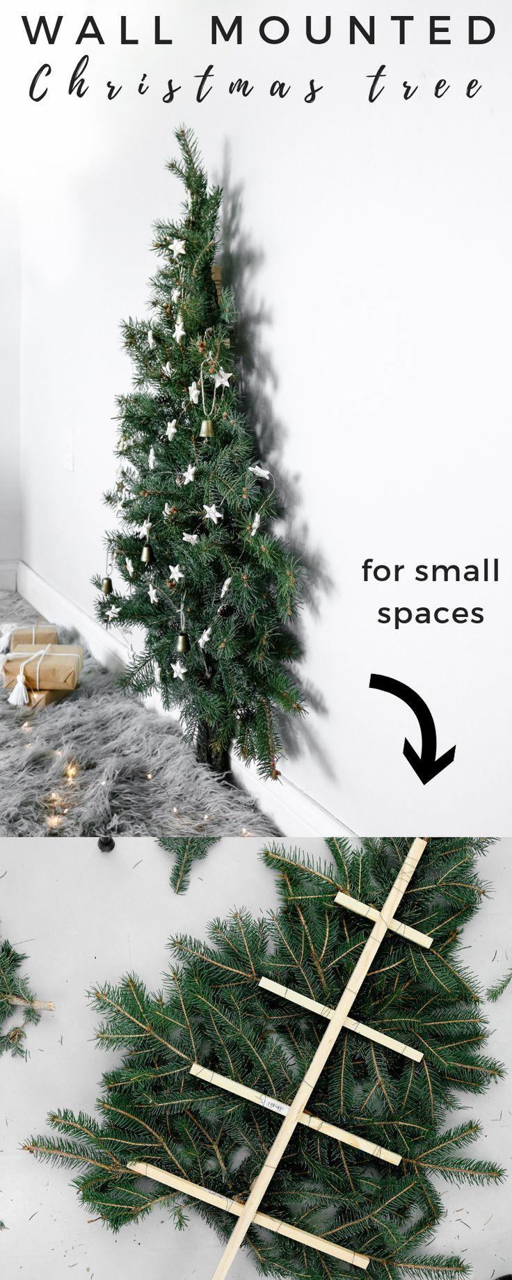 Hier ist ein lustiger und einfacher Weihnachtsbaum, den Sie machen können, wenn Sie in einem kleinen