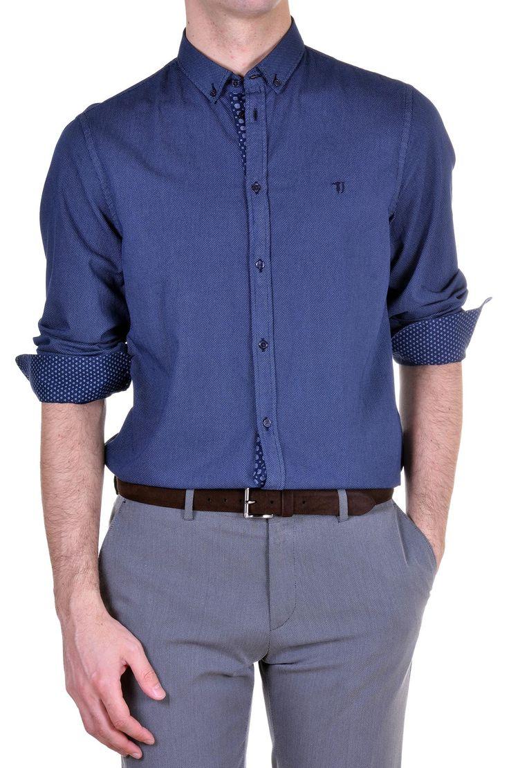 Trussardi Men's Shirt trussardi215-52c53-48