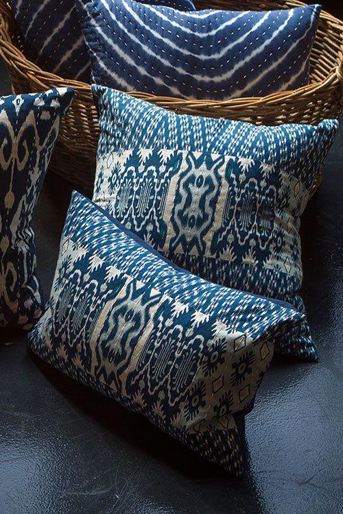 Mothology.com - Patchwork Ikat Pillow with Kantha Stitch, $39.00 (http://www.mothology.com/patchwork-ikat-pillow-with-kantha-stitch/)