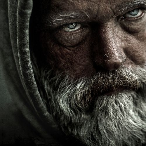 Untitled  by LJ.Photos, This Man, Male Portraits, Portraits Photography, Lee Jeffries, The Prophet, Old Face, People, Green Eye