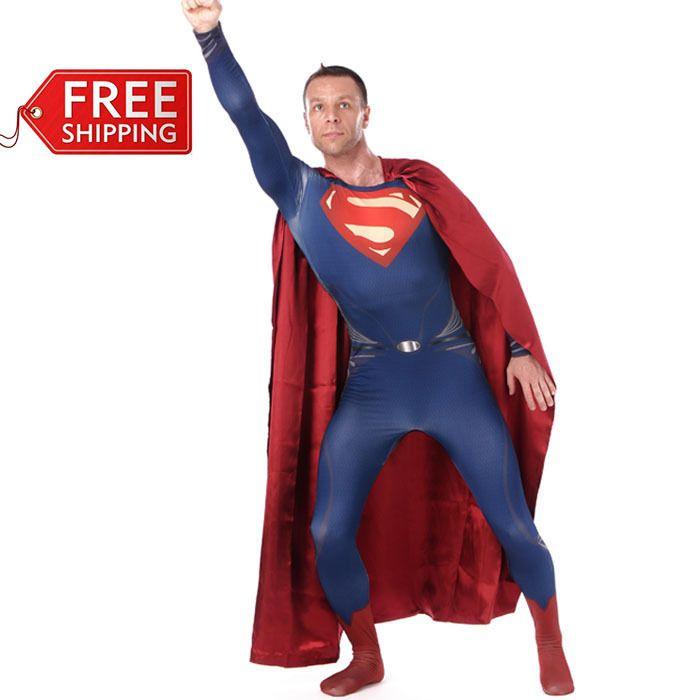 Костюм супермена взрослый супермен из стали костюм хэллоуин костюмы для мужчин супергерой косплей полной боди зентаи мыса обычаю