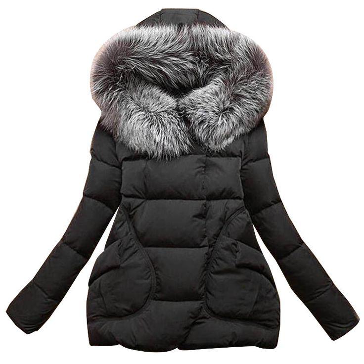 Nouvelle Hiver 2017 Femmes Vestes Coton Manches Complète bouton Couvert avec pocketswomen Chapeau avec des Plumes Ultra Lumière Vers Le Bas Veste A023