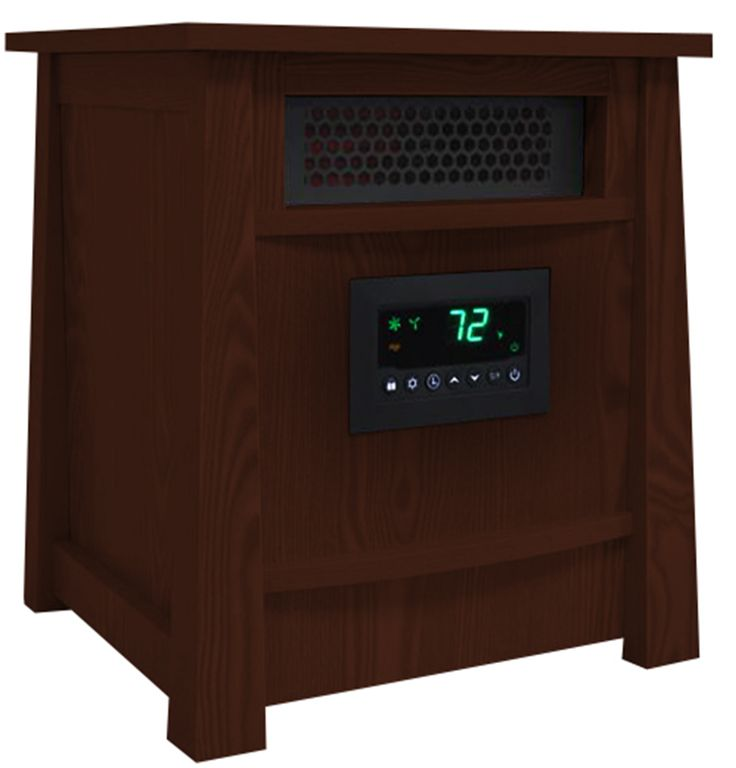 LifeSmart 8 Element Infrared Heater Wood Cabinet, Cherry
