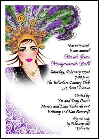 120 best holiday party invitations images on pinterest christmas mardi gras is a state of mind so create your unique invites for mardi gra party stopboris Gallery