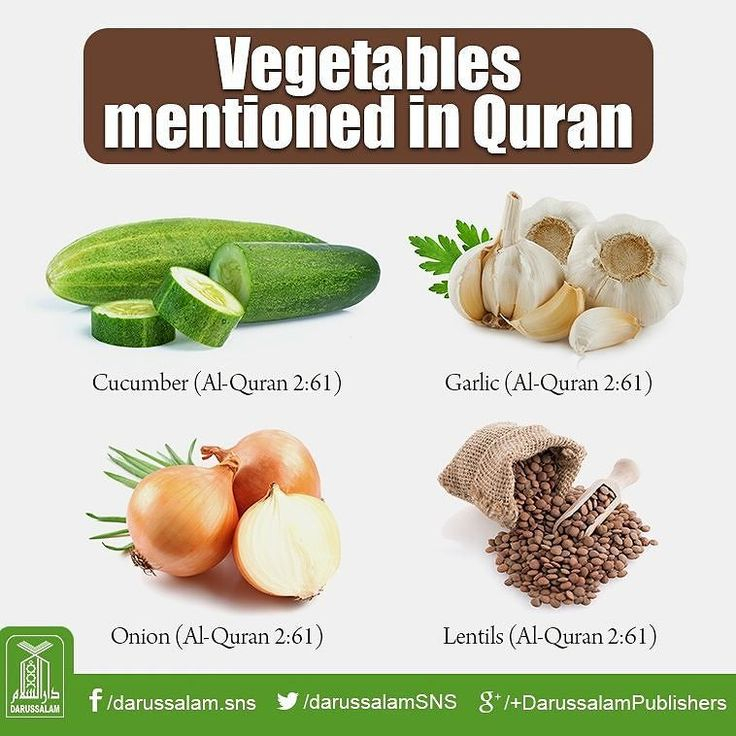 Vegetables mentioned in the Quran. #Islam