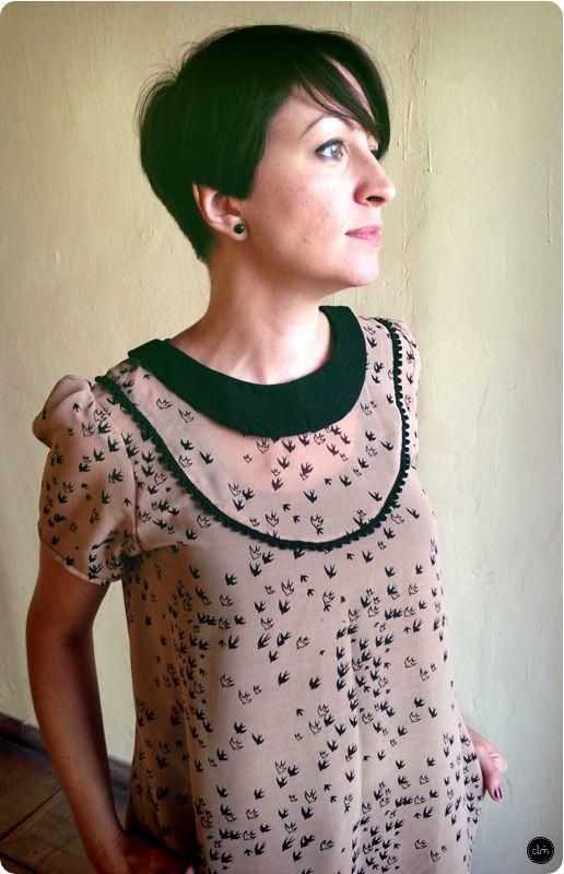 La blouse Laelia de Blousette Rose, parfaite pour des tissus légers.