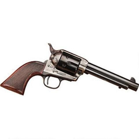 "Taylor's and Company Smoke Wagon Deluxe Edition Revolver .45 Long Colt 4-3/4"" Barrel 6 Rounds Checkered Wood Grips Case Hardened Blue Finish - 4109DE - 839665004760"