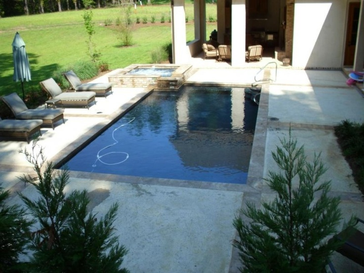 Simple pool and hot tub outdoor spaces pinterest Hot tubs tulsa