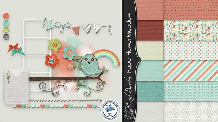 Paper Flower Meadow Kit by Meryl Bartho.