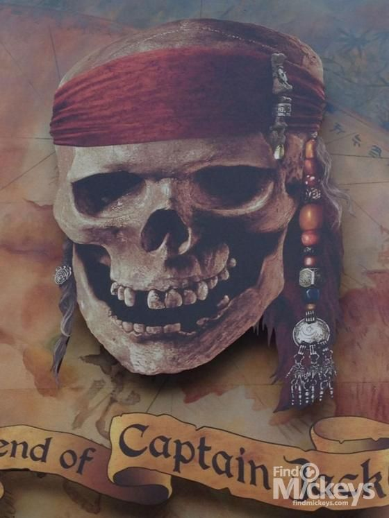 Here is a pic of The Legend of Captain Jack Sparrow billboard that contains several Hidden Mickeys.  How many can you find?
