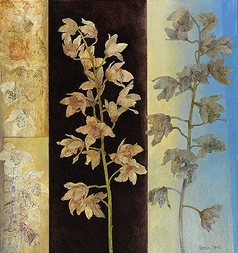 the fascination of orchids ~ oil on linen ~ by victoria crowe