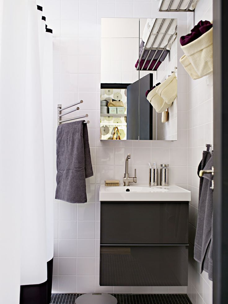 GODMORGON badrumsserie i högglans grått.