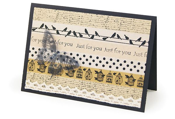 MT474d Washi Tape Butterfly Cards