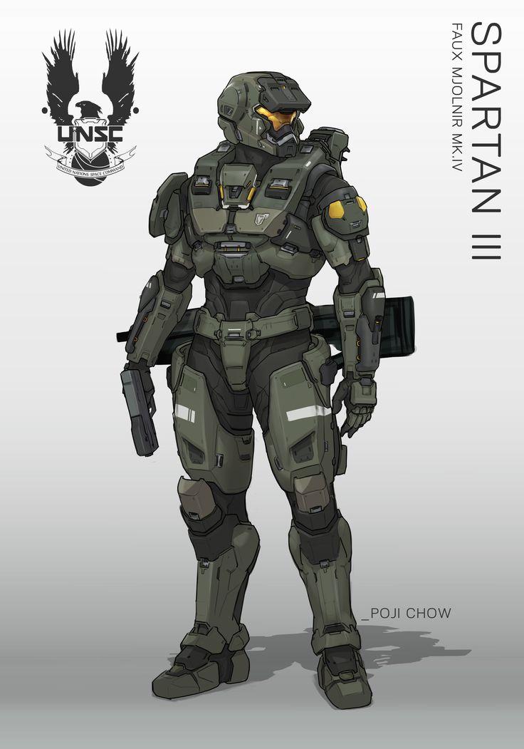 ArtStation - Spartan III Faux Mjornir - Halo Fanart, Poji Chow