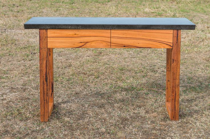 concrete and timber sideboard