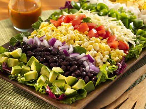 If you're looking for a healthy salad option this holiday weekend, check out this recipe for Santa Fe Cobb Salad!