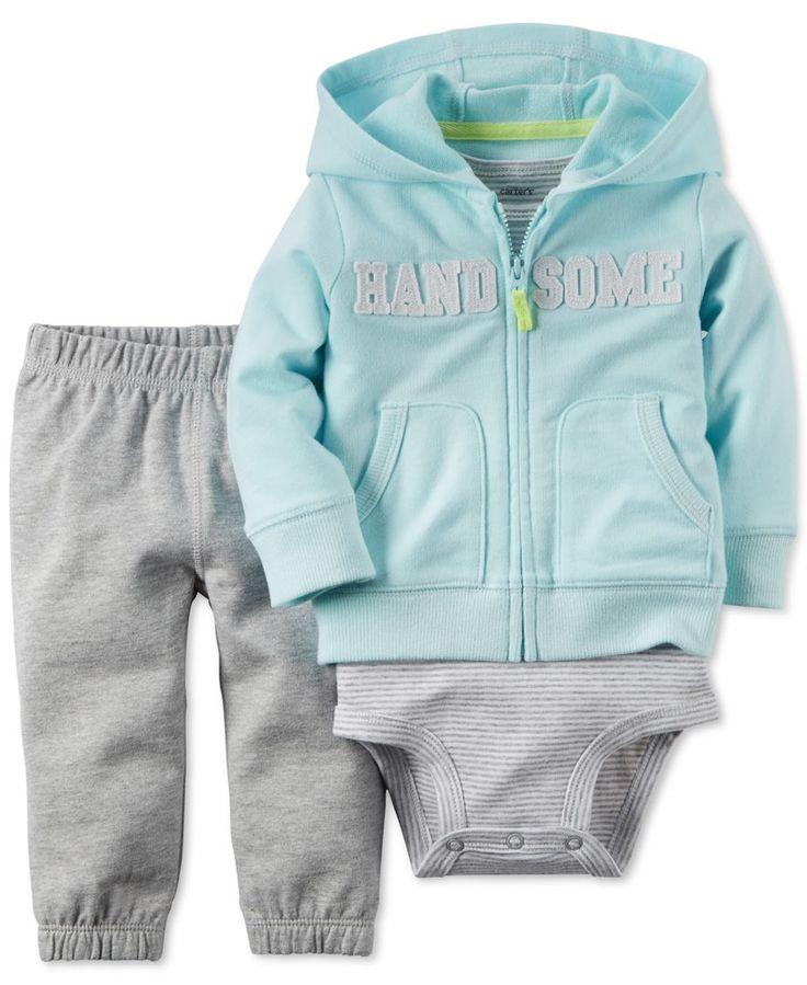 Carter's Baby Boys' 3-Piece Handsome Hoodie, Bodysuit & Pants Set