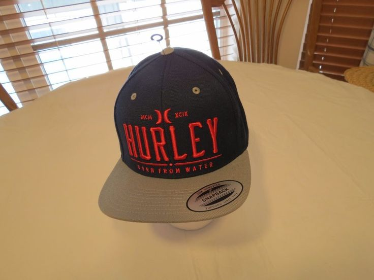 Hurley Cap Hat snapback Men's adult NEW OSFM navy blue surf skate red classics  #Hurley #hatcap