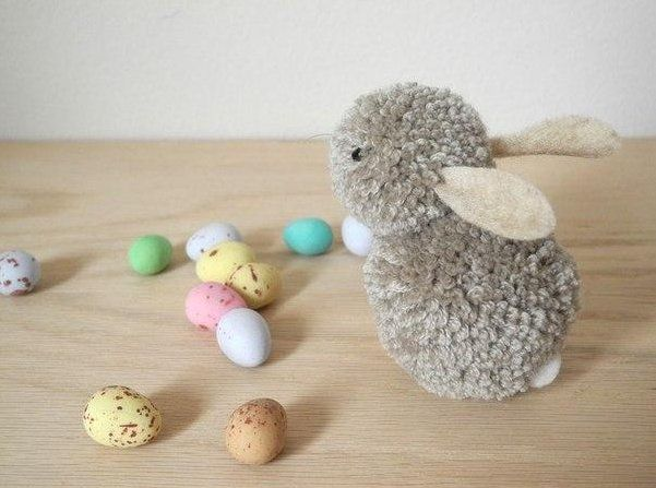This pom pom bunny is too cute to wait until easter! Via Useful DIY