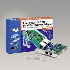 Intel PRO/1000 MT server adapter 2-port includes low-profile and full-height PCI brackets - Ethernet NICs internal - HP: PWLA8492MT