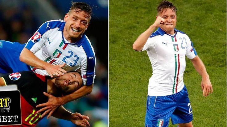 De löper mest, försvarar bäst, har världens bäste målvakt. Ett sätt att scouta Italien är att se en dvd-film från matchen mot Belgien. Ett annat börjar på golvet i en betongfabrik. #Giaccherini