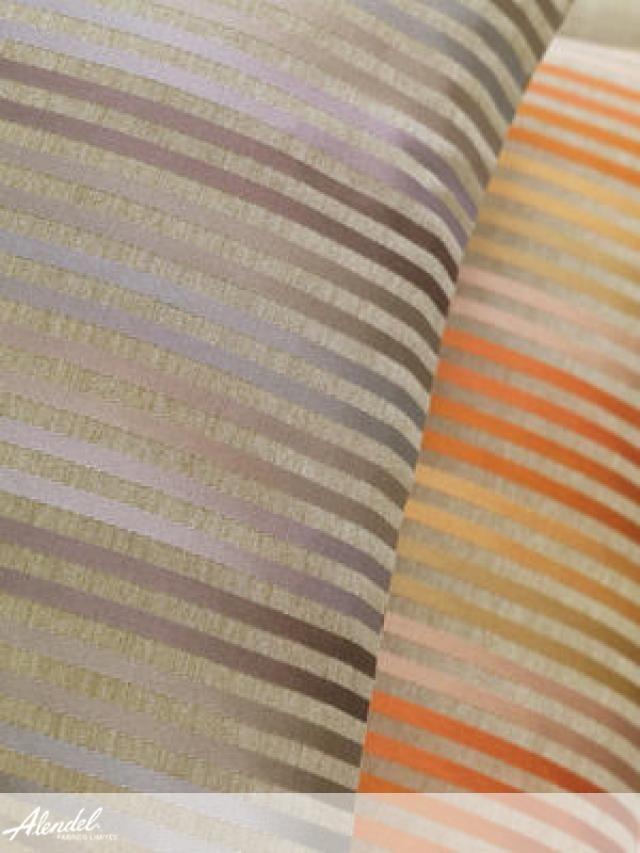 Alendel Fabrics Bistro Collection | Patterns Bourbon in colours Bisque, Nut Cake, Spritzer, Island, Breeze, Blue Twist, Lavender Punch, Spiced Cider