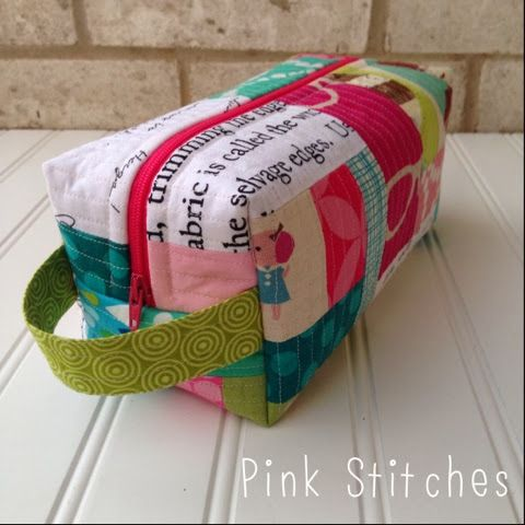 Pink Stitches: Boxy Pouch Tutorial                                                                                                                                                      More