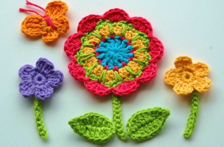 Free Crochet Patterns Flowers Leaves : 65 best images about Crochet leaves on Pinterest