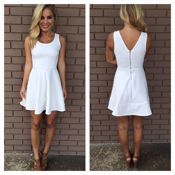Casual White Graduation Dresses