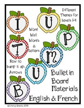 Bump it UP Bulletin Board Ready! Words and Posters: Englis