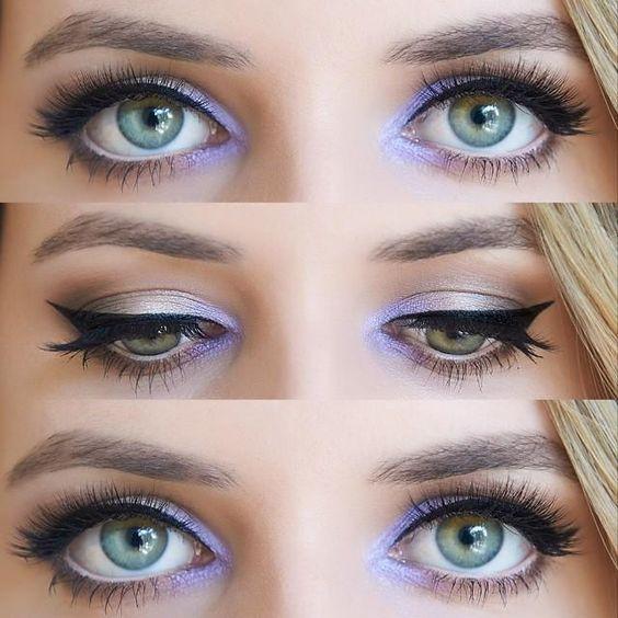 Wedding Eye Makeup Hooded Eyes : Lavender Eye Makeup, Love this, especially for hooded eyes ...
