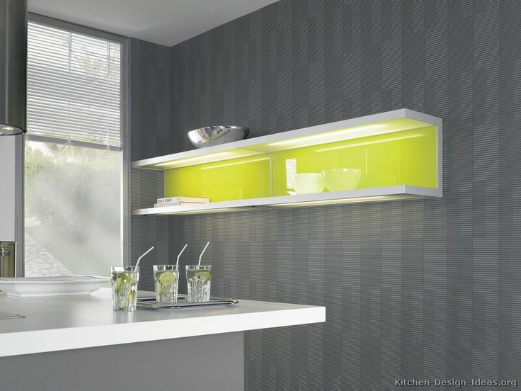 kitchen cabinets modern gray Kitchen CAbinet and Wall With white top yellow shelf lighting gray wall Simple Grey Kitchen Cabinets For Small Kitchen Design Ideas