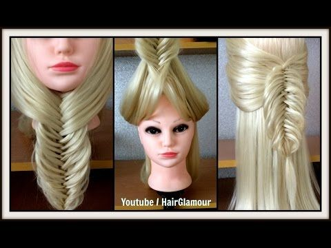 UNDER THE CHIN FLIP BACK BRAID / FISHTAIL Hairstyle / Hair Tutorial / HairGlamour - YouTube