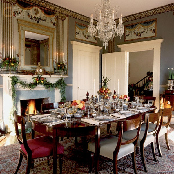 Dining Room Contemporary And Elegant Table Decorating Ideas With Chandelier Fireplace In The Also Perfect Setup For