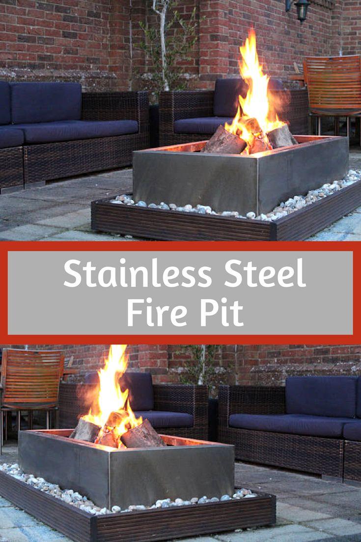 best 25 stainless steel fire pit ideas on pinterest fire pit