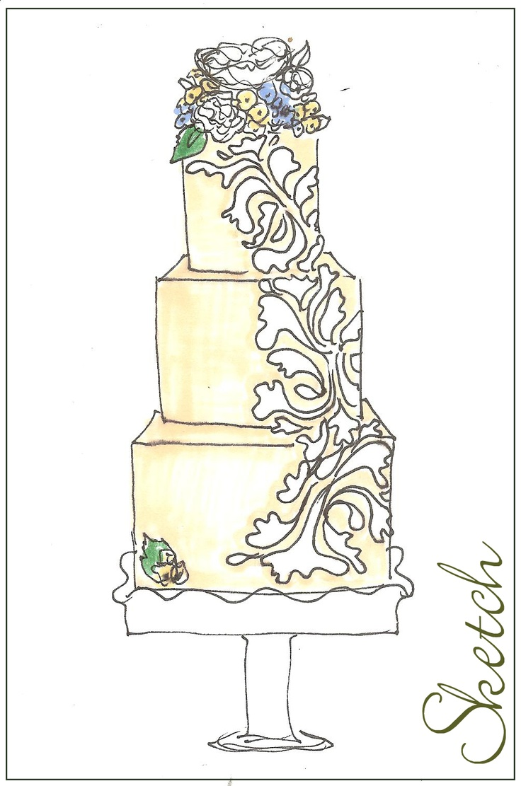 115 Best Images About Cake Sketch On Pinterest Cake
