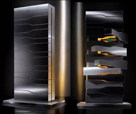 Created by Porsche Design exclusively for Veuve Clicquot champagne house, the Vertical Limit wine cellar