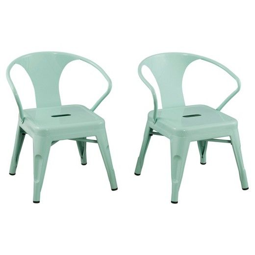 Versatile, sleek and sturdy, the Kids Chair is perfect for the contemporary kids' room. Made from durable steel, this kids' furniture is ideal for snack time, art projects and other activities. Each set includes two, fully assembled stools, so your little one can invite a friend. Choose from multiple fun colors.