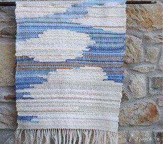 la ragazza delle nuvole - Handwoven by Atelier Faggi Italy #weaving #handweaving #weaving-techniques #weaving-patterns #atelierfaggi