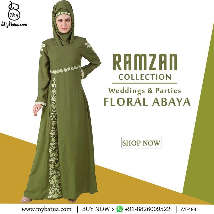 Afsa Green Rayon Abaya | MyBatua Available in sizes XS to 7XL, length 50 to 66 inches.    Buy Link: http://bit.ly/2iCPlwv Whatsapp: +91-8826009522 (#worldwide #shipping)    #abaya #online #abayaworlduk #hijabchic #abayaster #coverupdress #muslimahmodern #hijabdress #dubaistyle #jilbabfashion #arabianclothing