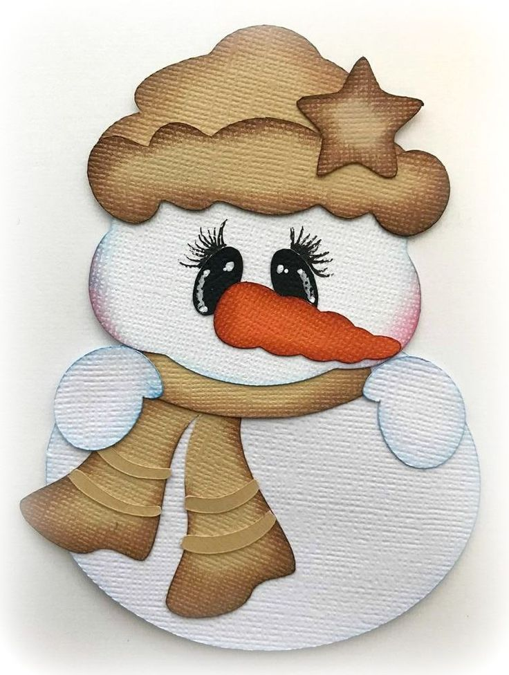 PREMADE WINTER COUNTRY SNOWMAN CHRISTMAS PAPER PIECING BY MY TEAR BEARS KIRA #MYTEARBEARS