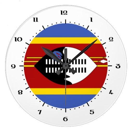 Swazi flag Wall Clocks