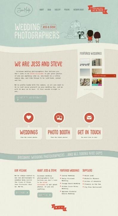 #webdesign concept for #wedding #photography 83oranges.com