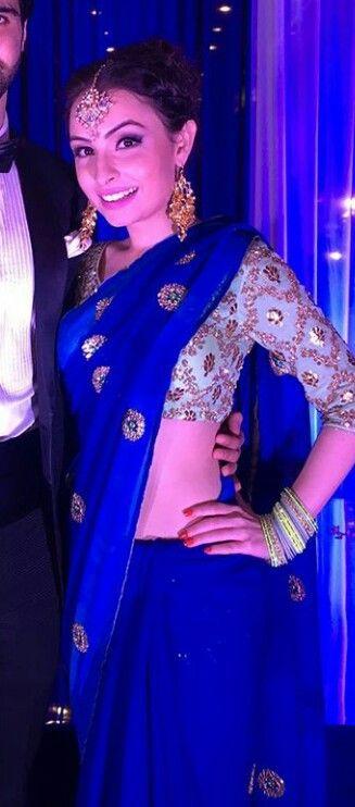 email sajsacouture@gmail.com for this exquisite blue sari!